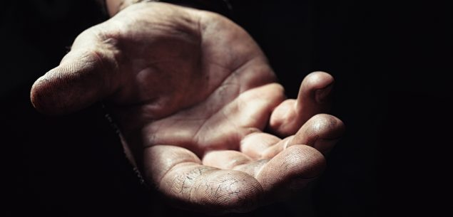 compassion outstretched hand